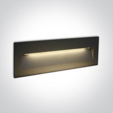 One Light lampa LED prostokąt oświetlenie schodów korytarza Lapas 2 68068C/AN/W IP65