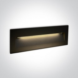 One Light lampa LED prostokąt oświetlenie schodów korytarza Lapas 2 68068C/B/W IP65