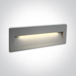One Light lampa LED prostokąt oświetlenie schodów korytarza Lapas 2 68068C/G/W IP65