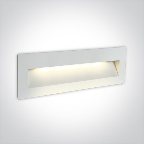One Light lampa LED prostokąt oświetlenie schodów korytarza Lapas 2 68068C/W/W IP65