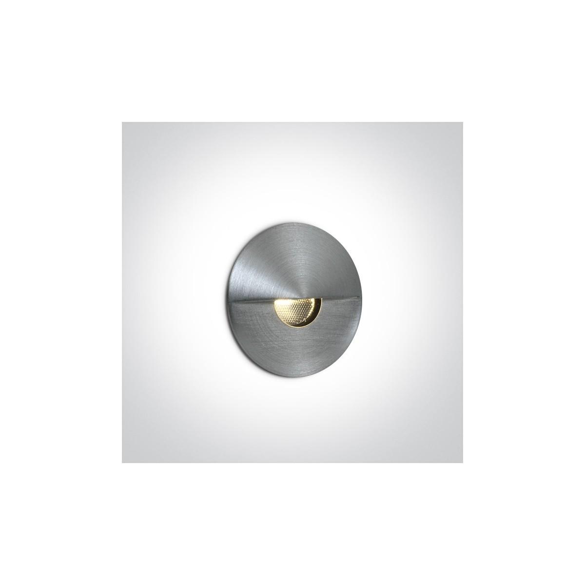 One Light wpust ścienny aluminium oświetlenie schodów chodnika korytarza Kavasila 68070/AL/W IP65