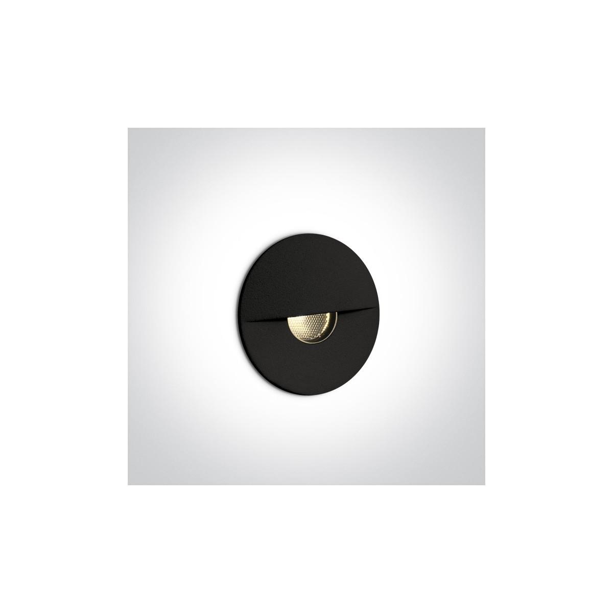 One Light wpust ścienny czarny oświetlenie schodów chodnika korytarza Kavasila 68070/B/W IP65