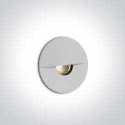 One Light wpust ścienny biały oświetlenie schodów chodnika korytarza Kavasila 68070/W/W IP65