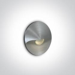 One Light wpust do oświetlenia korytarza schodów Danika 68070A/AL/W