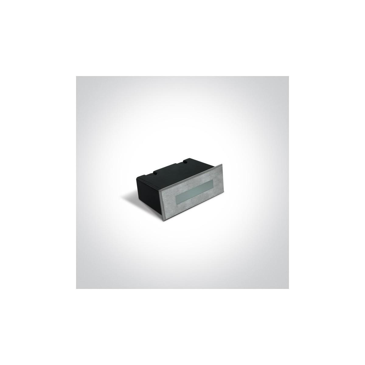 One Light wpust prostokątny LED do oświetlenia koryatarza schodów Letrina 68072A/W IP65