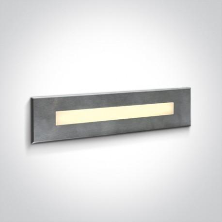 One Light wpust prostokątny stalowy LED do oświetlenia korytarza schodów Letrina 68072C/W IP65