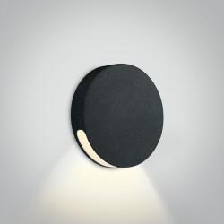 One Light okrągły czarny wpust LED do oświetlenia korytarza schodów Persena 68074/B/W IP65