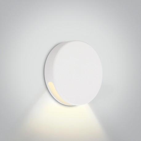 One Light okrągły biały wpust LED do oświetlenia korytarza schodów Persena 68074/W/W IP65