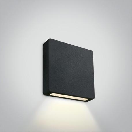 One Light wpust LED kwadrat do oświetlenia schodów korytarza elewacji Stavri 68074A/B/W IP65
