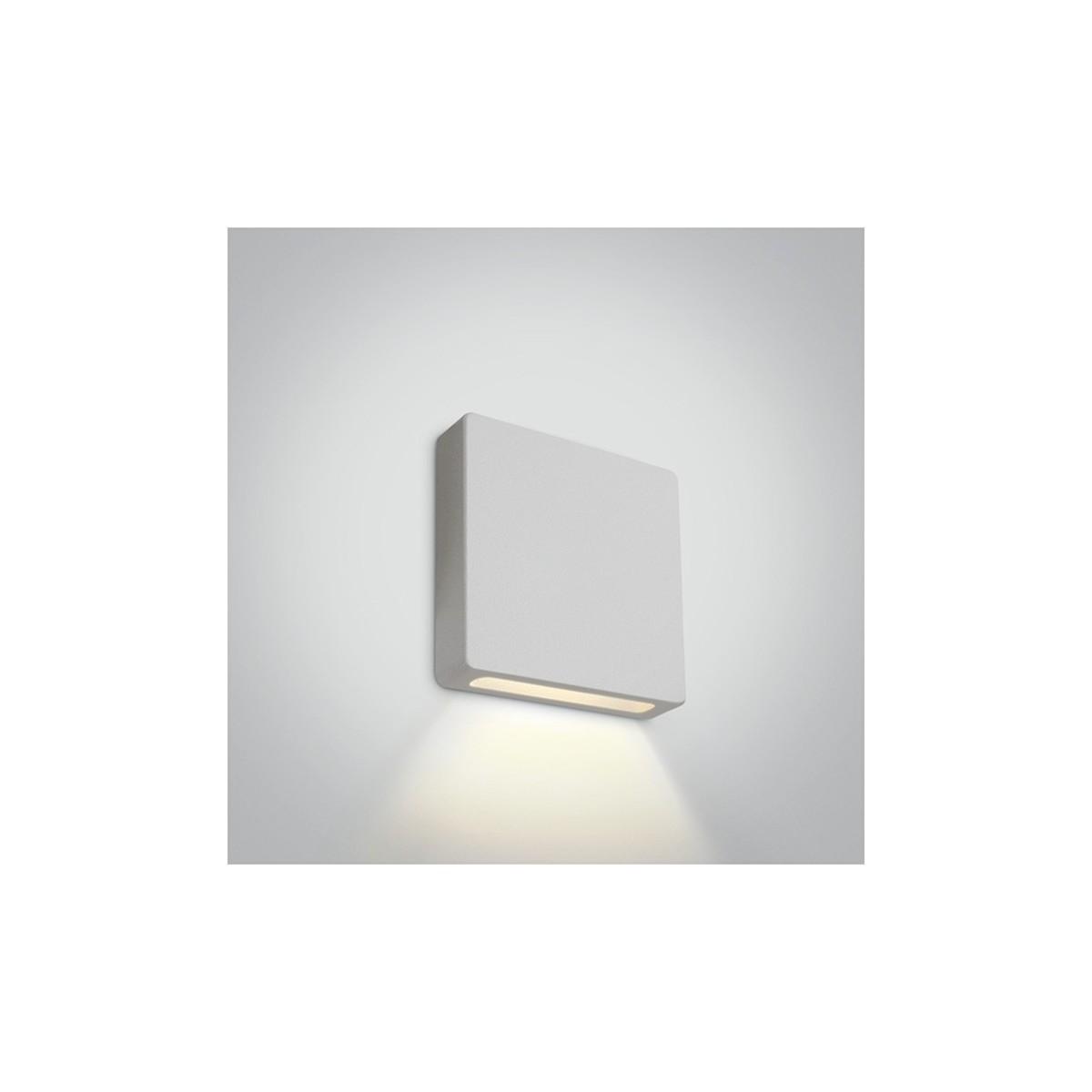 One Light wpust LED kwadrat do oświetlenia schodów korytarza elewacji Stavri 68074A/W/W IP65