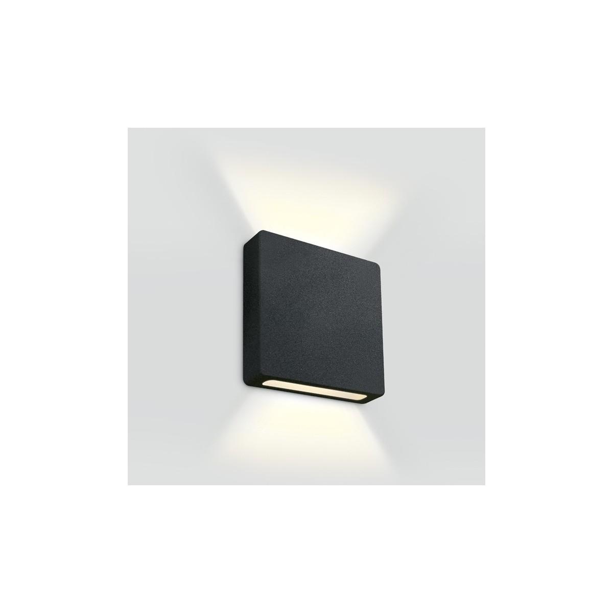 One Light wpust LED ścienny czarny góra dół korytarz schody Stavri 2 68074B/B/W IP65