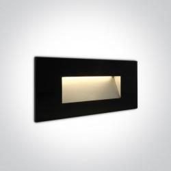 One Light wpust czarny szklany do oświetlenia korytarza Levidi 2 68076A/B/W IP65