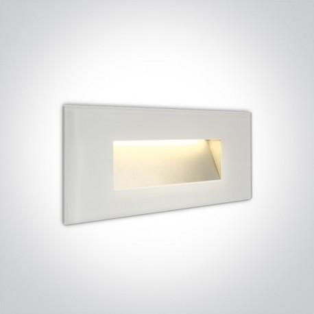 One Light wpust biały szklany do oświetlenia korytarza Levidi 2 68076A/W/W IP65