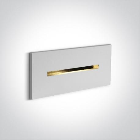One Light wpust ścienny biały do oświetlenia korytarza Sterna 68078/W/W