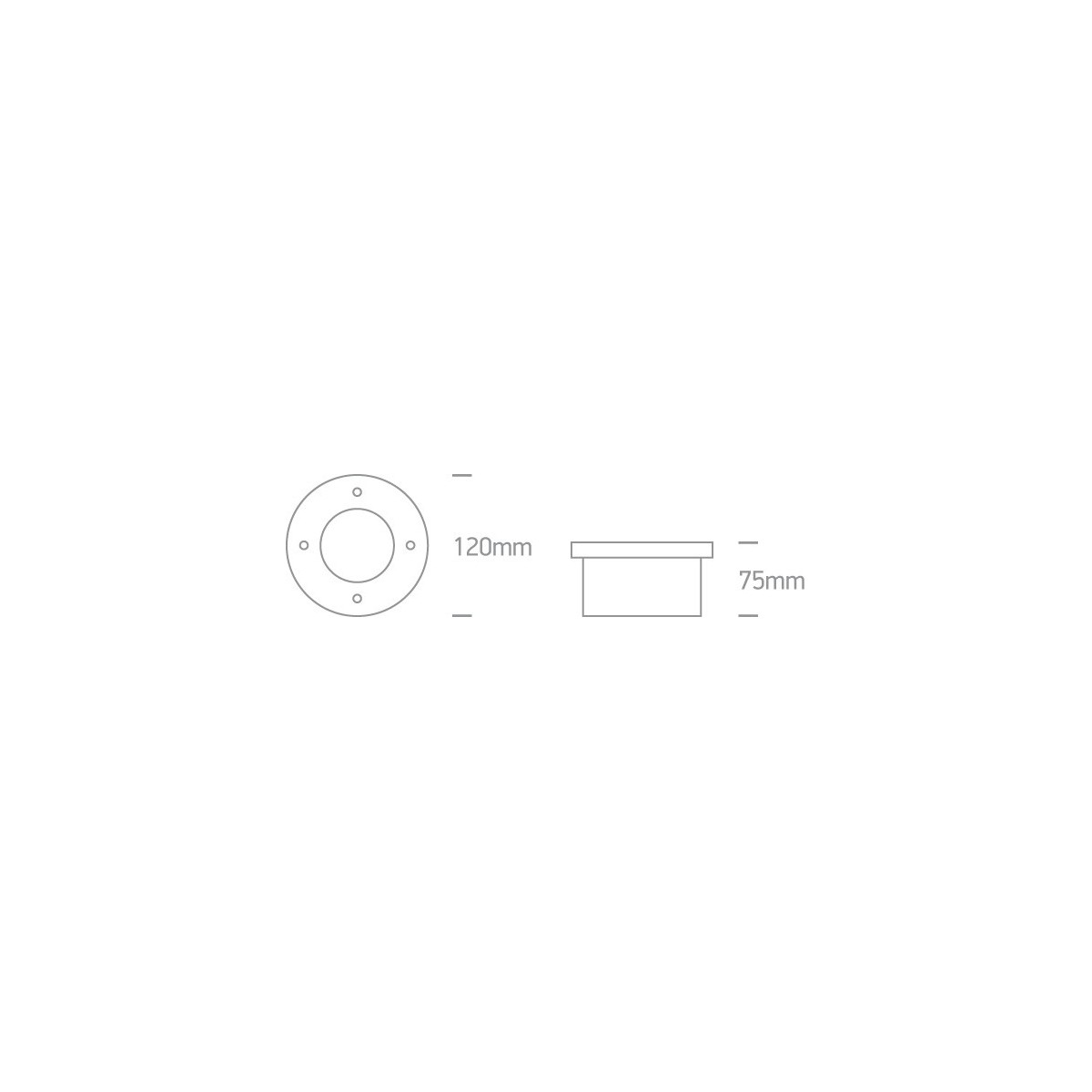 One Light wpust ze stali nierdzewnej do łazienki ogrodu basen Tzivas 69006 IP67