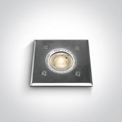 One Light wpust kwadratowy ze stali nierdzewnej 35W GU10 Evandro 69008G IP67
