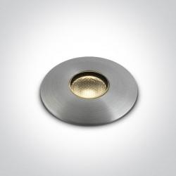One Light wpust LED aluminiowy zewnętrzny do ogrodu elewacja ścieżka Graikos 69042/AL/W IP67