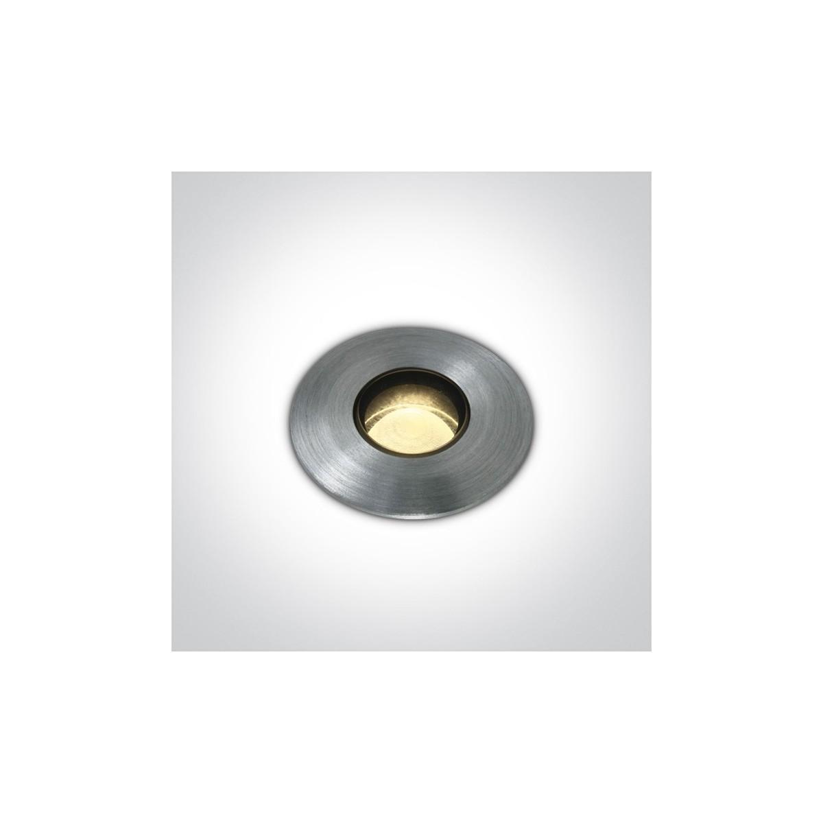 One Light wpust LED do oświetlenia ogrodu ścieżki chodnika Emiali 69042M/AL/W IP67
