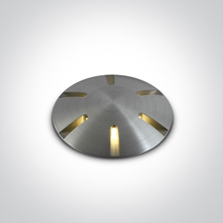One Light wpust LED aluminiowy do ogrodu ścieżka chodnik Diaselo 6 69044/AL/W IP67
