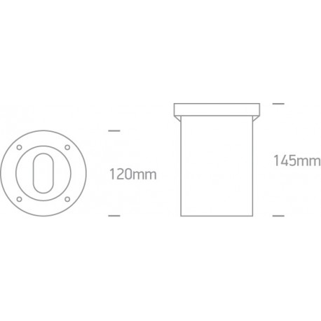 One Light wpust LED zewnętrzny regulowany ścieżka chodnik elewacja Verga 69046G IP67