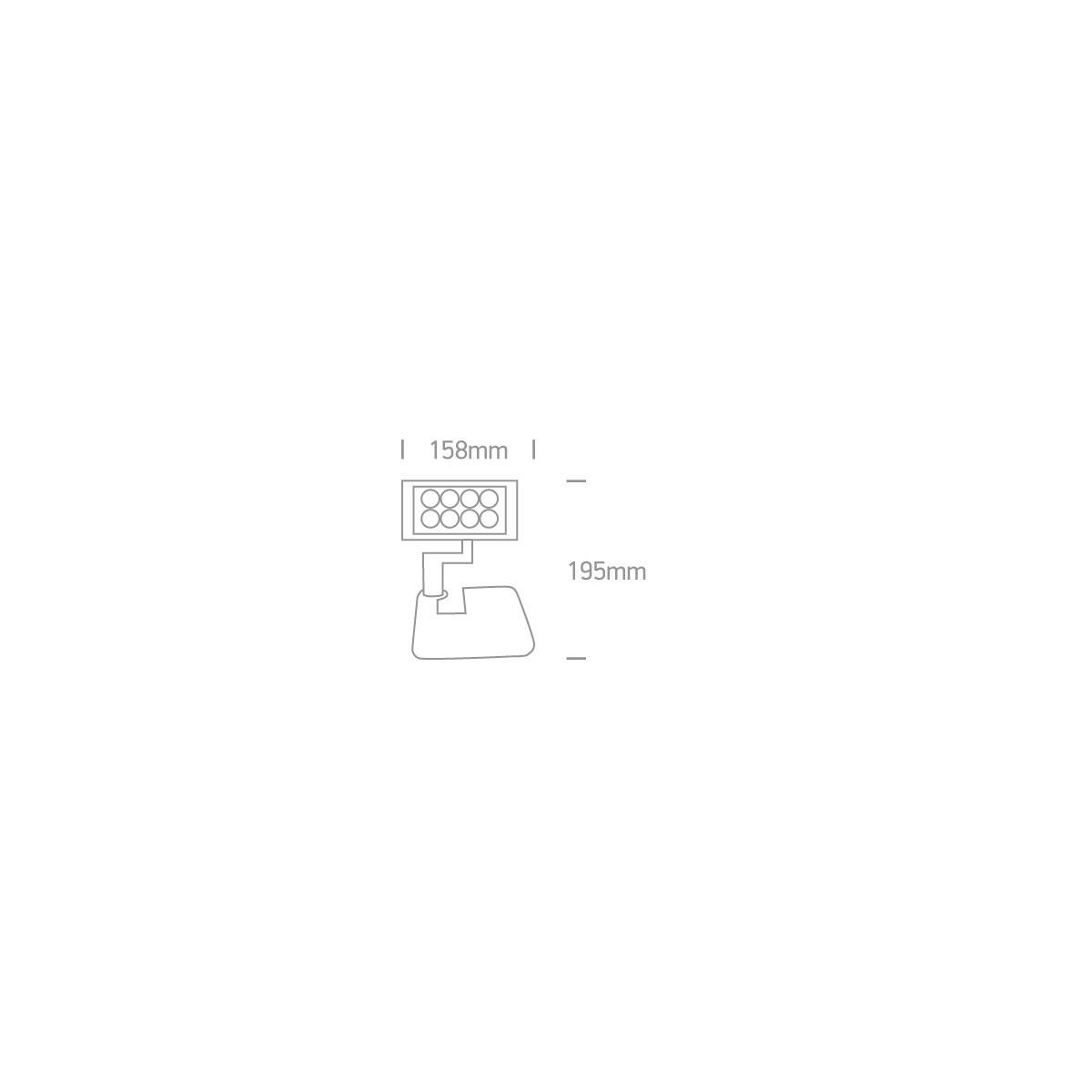 One Light reflektor LED regulowany 8x1W Rumiod 7030/AN/C IP65