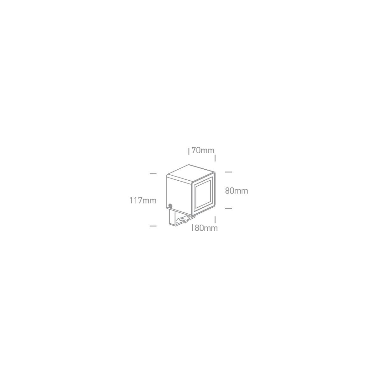 One Light reflektor LED kostka oświetlenie ogrodu Borgone 7052/AN/W IP65