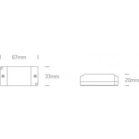One Light zasilacz LED 8W 12V DC