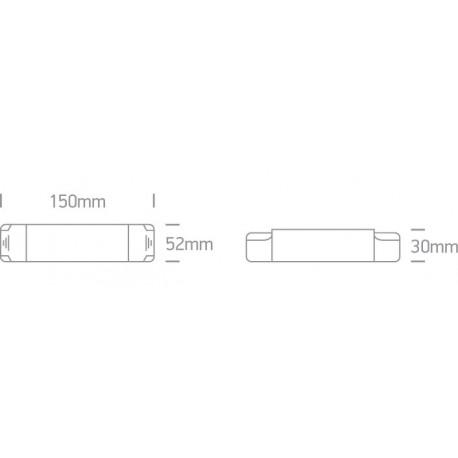 One Light zasilacz LED push to dimm/dali