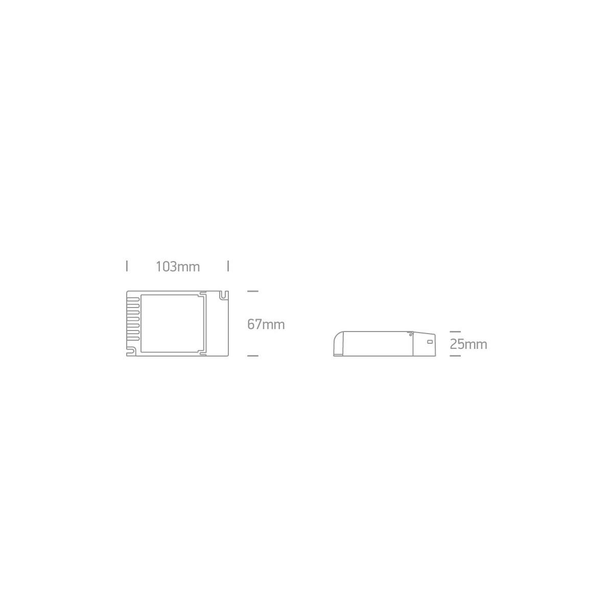 One Light zasilacz LED push to dimm 27W 1-10V
