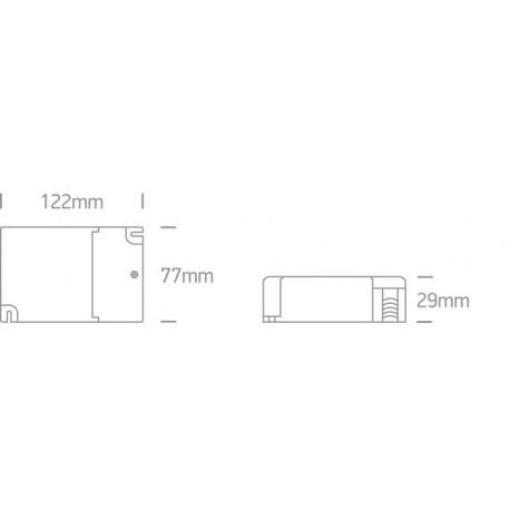 One Light ściemnialny zasilacz LED do opraw LED 1200mA 32-48 W