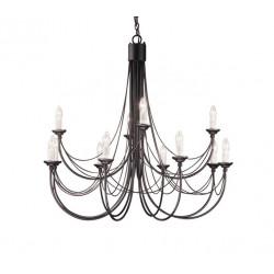 Elstead Lighting Interior Wisząca CARISBROOKE 12x60W E14 CB12 BLACK