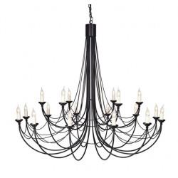 Elstead Lighting Interior Wisząca CARISBROOKE 16x60W E14 CB18 BLACK