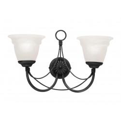 Elstead Lighting Interior Kinkiet CARISBROOKE 2x60W E14 CB2 BLACK
