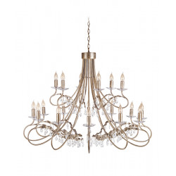 Elstead Lighting Interior Wisząca CHRISTINA 18x60W E14 CRT18 SIL/GOLD