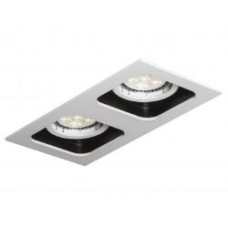 Mistic Lighting DOUBLE QUAD QR111 Matt Biały/Czarny 2xQR111 50W G53 12V MSTC-05355511 Wpust