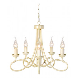 Elstead Lighting Interior Wisząca OLIVIA 5x60W E27 OV5 IVORY/GOLD