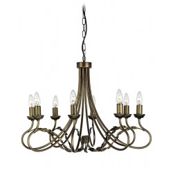 Elstead Lighting Interior Wisząca OLIVIA 8x60W E27 OV8 BLK/GOLD