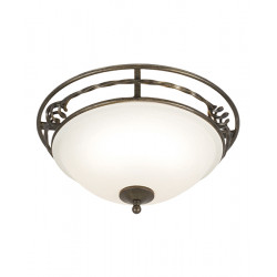 Elstead Lighting Interior PLAFON PEMBROKE 2x60W E27 PB/F/A BLK/GOLD