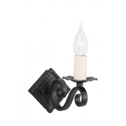 Elstead Lighting Interior Kinkiet RECTORY 1x60W E14 RY1A BLACK