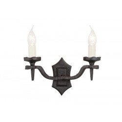 Elstead Lighting Interior Kinkiet RECTORY 2x60W E14 RY2B BLACK