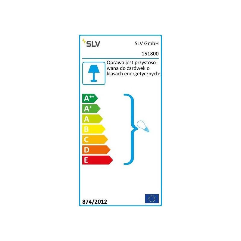 SPOTLINE/SLV ENOLA-B 2xGU10 Kinkiet Czarny 151800
