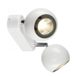 SPOTLINE/SLV LIGHT EYE 2 2xGU10 Kinkiet/Sufitowa Biały, Chrom 149071