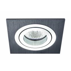 BPM MINI CATLI 1xGU5.3 Wpuszczana Wychylna 45o Aluminium szczotkowane czarne 3054