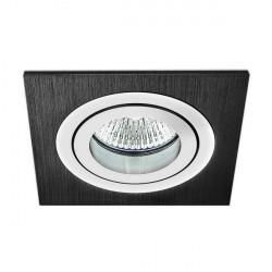 BPM MINI CATLI 1xGU10 Wpust Wychylna 45o Aluminium szczotkowane czarne 3054GU