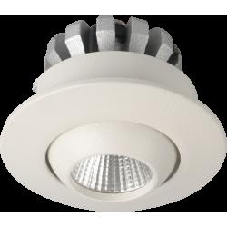 Dobac Yuca Round Tilted Wpust LED 3W 250lm 45st 3000K KT6859