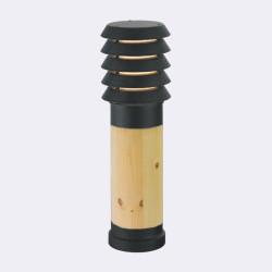 Norlys Alta 49cm 1xE27 IP65 drewno impregnowane/Czarny Stojąca 1453B