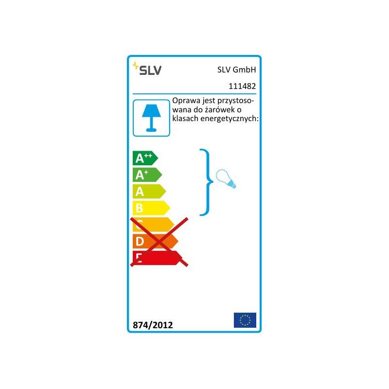 SPOTLINE/SLV QUADRASYL 44D zewnętrzna kwadratowa. srebrnoszary. GX53. max. 9W 111482
