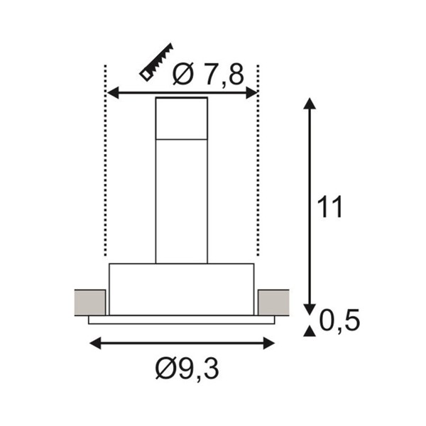 SPOTLINE/SLV NEW TRIA GU10 ROUND Biały mat. max. 50W. 113510 Sufitowa