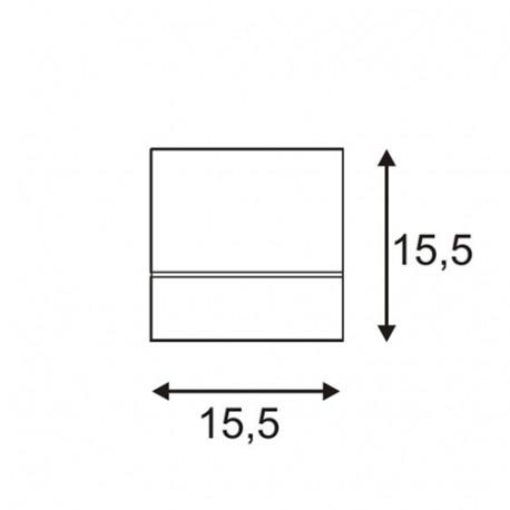 SPOTLINE/SLV KARDAMOD SURFACE SQUARE ES111 SINGLE Biały. GU10. max. 75W 117101 Sufitowa