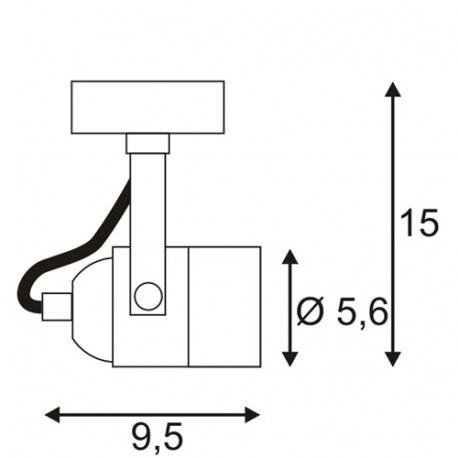 SPOTLINE/SLV SPOT 79 230V Biały. GU10. max. 50W 132021 Ścienna Sufitowa